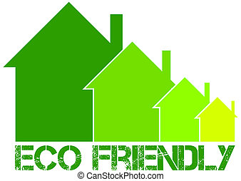 eco, maison, amical