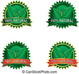 eco, produit, étiquettes, naturel