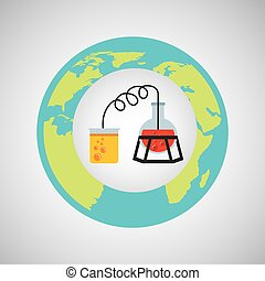 eco, science, processus, recherche, icône