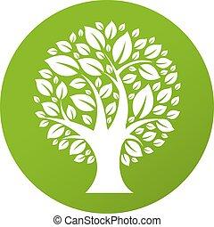 eco, symbole, arbre