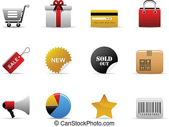 ecommerce, icônes