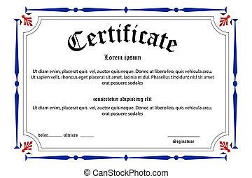 education, certificat