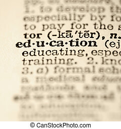 education, entry., dictionnaire
