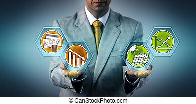 efficacité, cadre, photovoltaics, évaluer