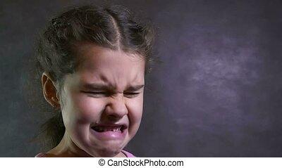 effort, couler, girl, adolescent, portrait, problèmes, cris, larmes