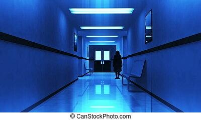 effrayant, couloir hôpital, 7, yurei