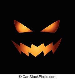 effrayant, figure, halloween, citrouille