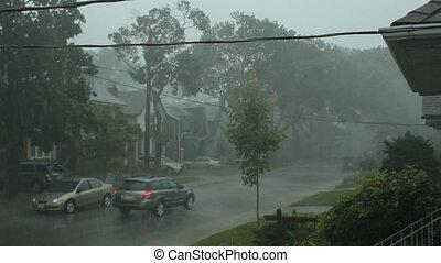 effrayant, suburbain, storm.