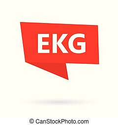 ekg, acronyme, autocollant, (electrocardiogram)