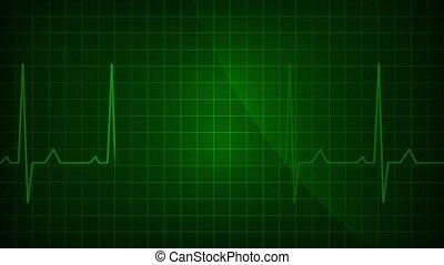 ekg, ecg moniteur, électrocardiogramme