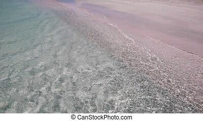 elafonisi, sable, célèbre, rose