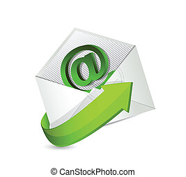 email., contact, mail., nous, illustration