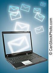 email., ordinateur portable, lot