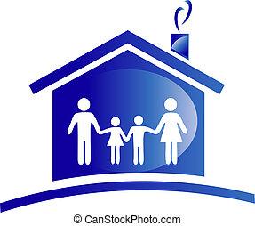 emmagasiner icône, famille, logo
