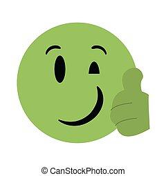 emoticon, bavarder, emoji