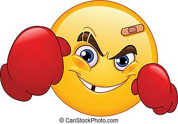 emoticon, boxeur