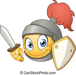 emoticon, chevalier