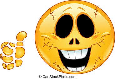 emoticon, crâne