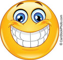 emoticon, grand sourire
