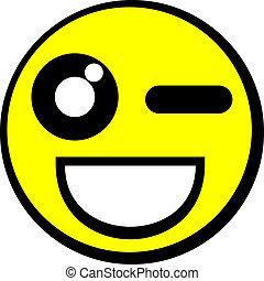 emoticon, heureux