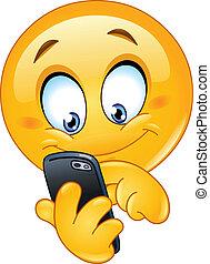 emoticon, téléphone, intelligent