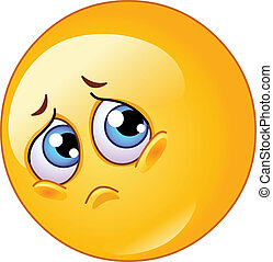 emoticon, triste