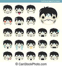 emoticons, catrin