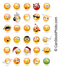 emoticons, ensemble, 30
