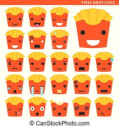 emoticons, frire