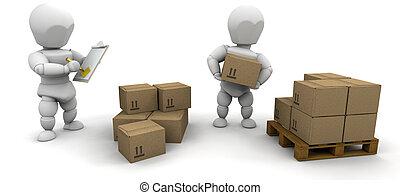 empilement, boîtes