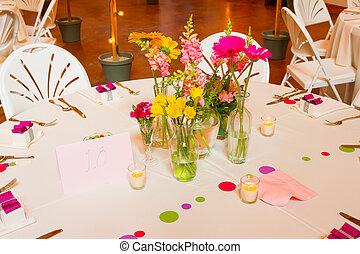 emplacement, réception, mariage