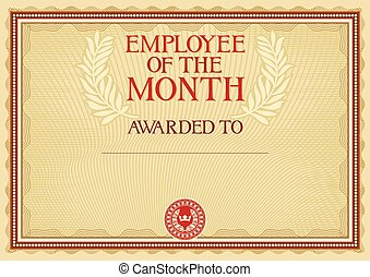 employé, -, certificat, mois