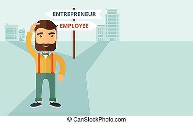 employé, entrepreneur