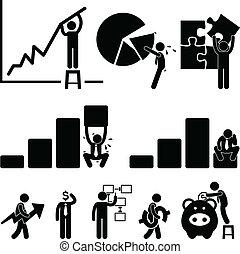 employé, finance, business, diagramme