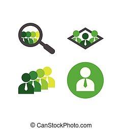 employé, logo, collection, gabarit
