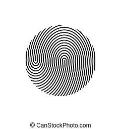 empreinte doigt, vecteur, illustration.