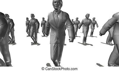 en avant!, mouvements, groupe, hommes affaires