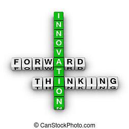 en avant!, pensée, innovation