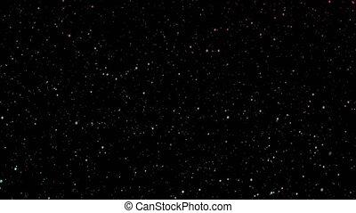 en mouvement, ciel, étoiles