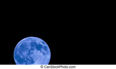 en mouvement, clair, entiers, nuages, lune