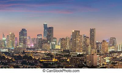 en ville, horizon ville, panorama