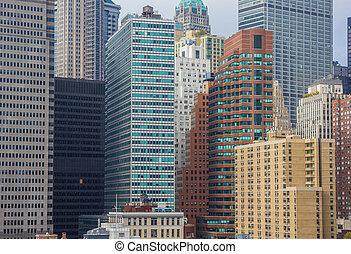 en ville, nouveau, bâtiments, appartement, york