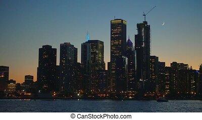 en ville, panorama, horizon, gratte-ciel, chicago