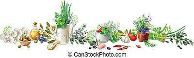 encore, herbes, vie, légumes, jardin