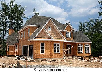 encore, nouveau, construction, maison, sous