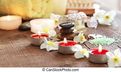 encore, spa, vie, huile, masage
