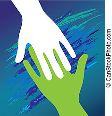 encouragement., soutien, père, main, enfant, moral.
