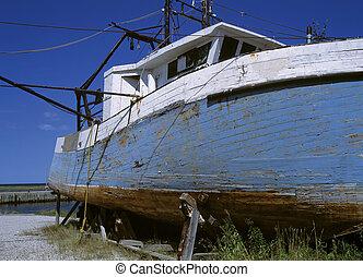 endommagé, bateau