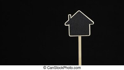 endroit, advertising., forme, house., panorama, signe, indice