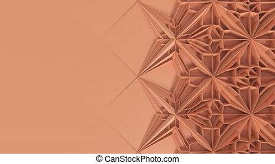 endroit, géométrique, transformation., fractal, loopable, kaléidoscope, 3d, texte, animation, surface, résumé